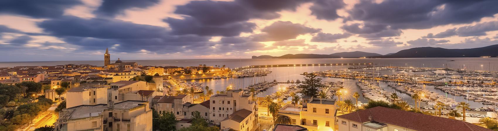 Tramonto su Alghero Sardegna
